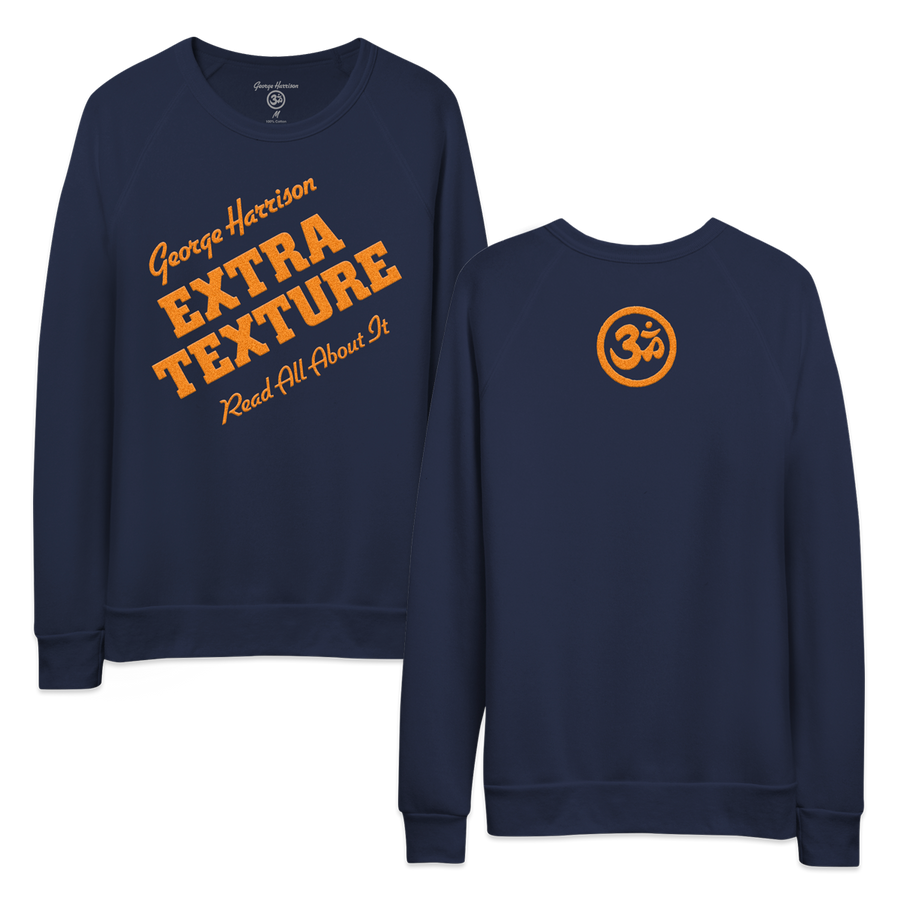 Extra Texture Flocking Navy Crewneck - George Harrison Shop