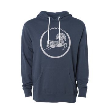 Slate Blue Dark Horse Records Pullover Hoodie - George Harrison