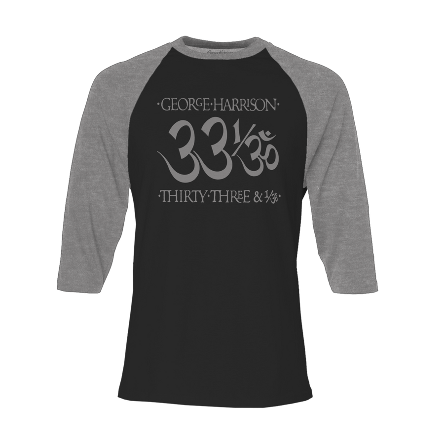 33 1/3 Black/Heather Charcoal Raglan - George Harrison Shop