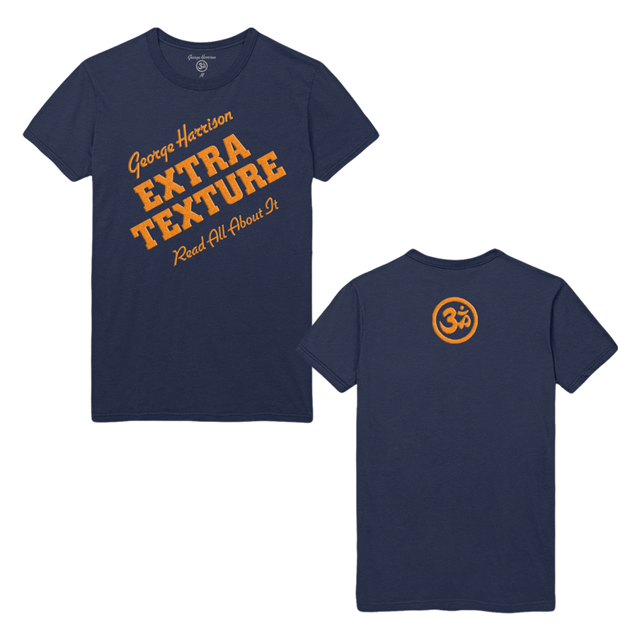 Extra Texture Flocking Navy Tee - George Harrison Shop