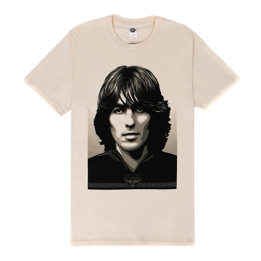 Shepard Fairey Natural Tee - George Harrison Shop