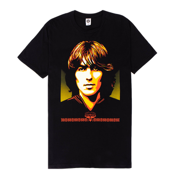 Shepard Fairey Black Tee - George Harrison Shop