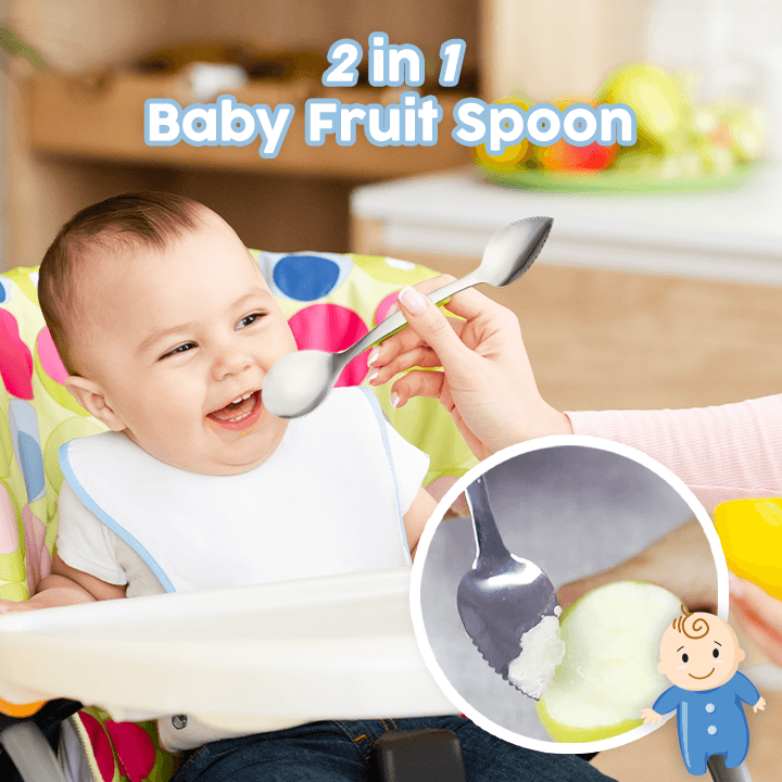 2 in 1 Baby Fruit Spoon