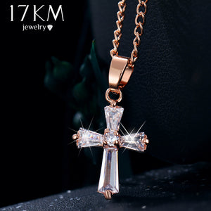 Cross Crystal Pendant For Woman