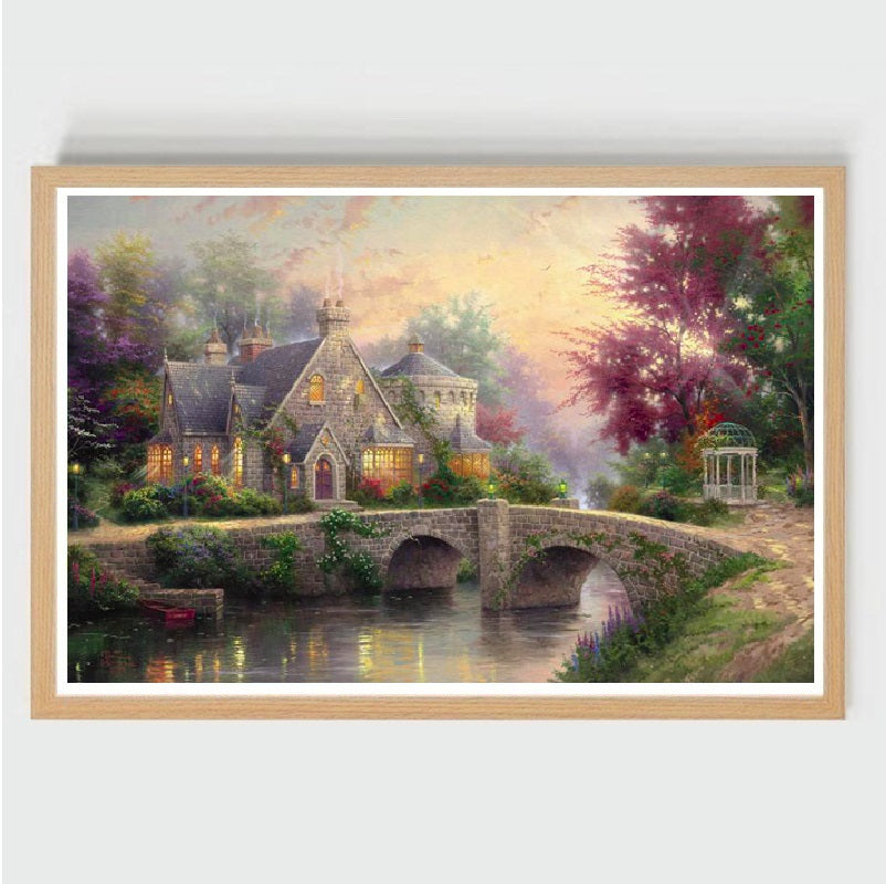 Castle Made By Stone-Wooden Jigsaw Decoration Puzzles fresco for kids/adult  (1000 pieces)