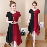 DRESS BLACK RED