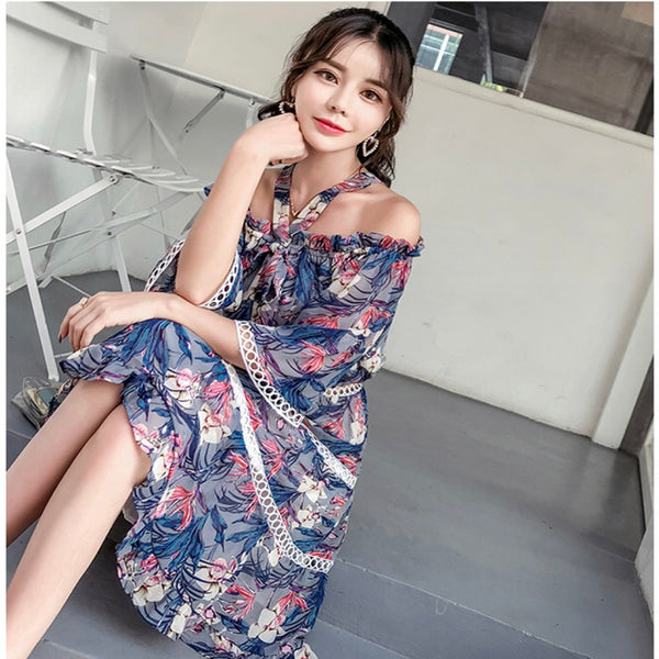 DRESS FLOWER SHOULDER