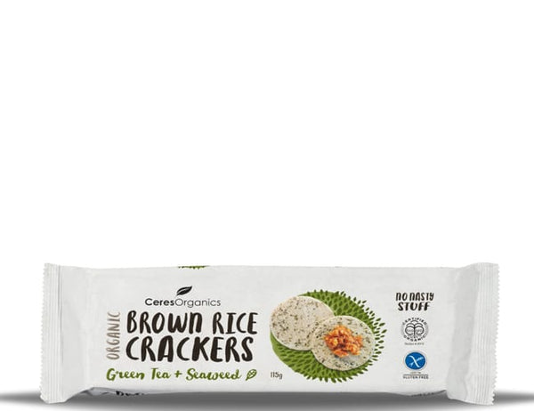 Ceres Brown Rice Crackers - Seaweed