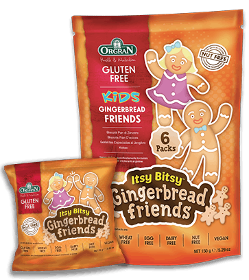 Orgran GF Itsy Bitsy Gingerbread Friends 126g