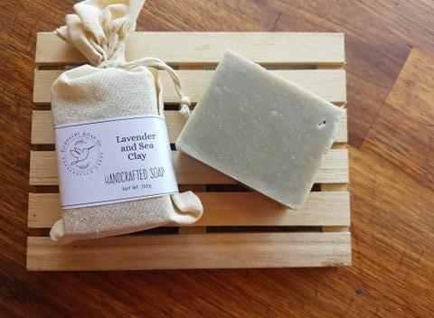 Lavender & Sea Clay Soap Bar 110g by Gerogery Soap Co