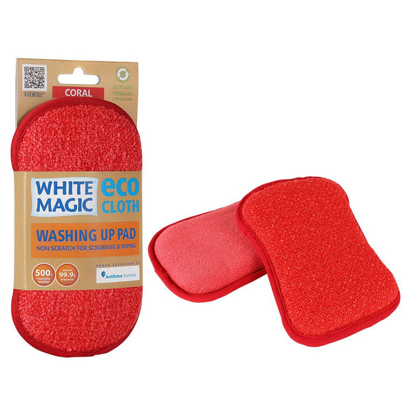 White Magic Washing Up Pad - Coral