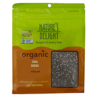 Natures Delights Organic Chia Seeds 225g