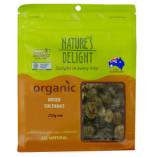 Natures Delight Organic Dried Sultanas