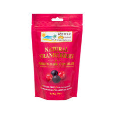 Noosa Natural Cranberries in dark chocolate