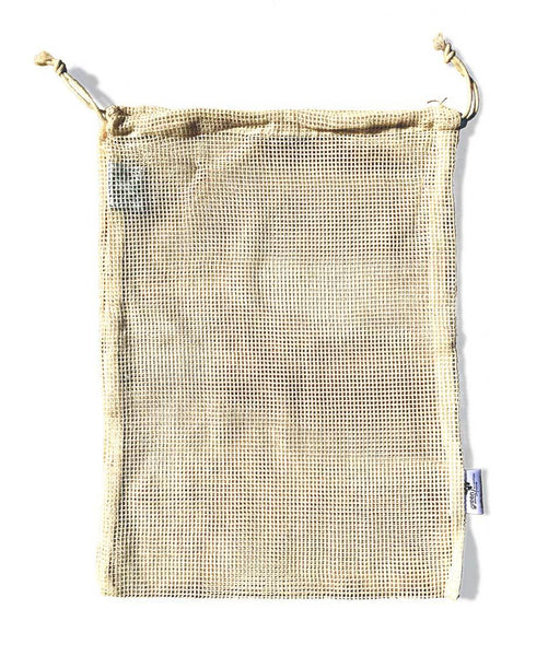 Reusable Produce bag Medium - Organic cotton mesh (single)