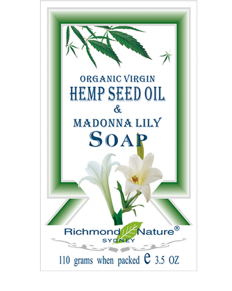 Organic Virgin Hemp Seed Oil Soap with Madonna Lily by Richmond Nature