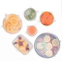 Silicone bowl covers set