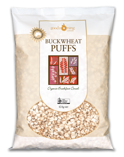Organic Buckwheat Puffs 175g - by Good Morning Cereals