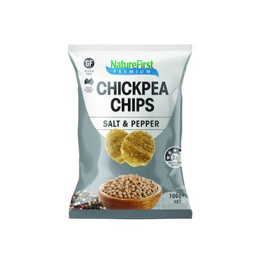 Natures First Chips Chickpea with Salt & Pepper 100g