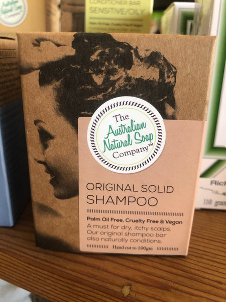 Solid Shampoo Bar - ORIGINAL - by The Aust Natural Soap Co