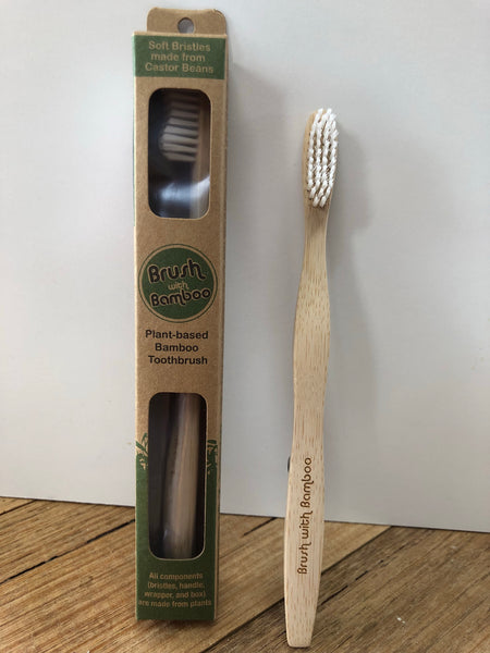 Toothbrush - Brush with Bamboo - adult size
