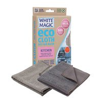 White Magic Eco Microfibre Kitchen Cloth (with bonus all purpose cloth)
