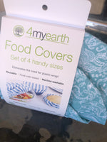 4MYEARTH food covers set - XS, S, M & L (4 pack)