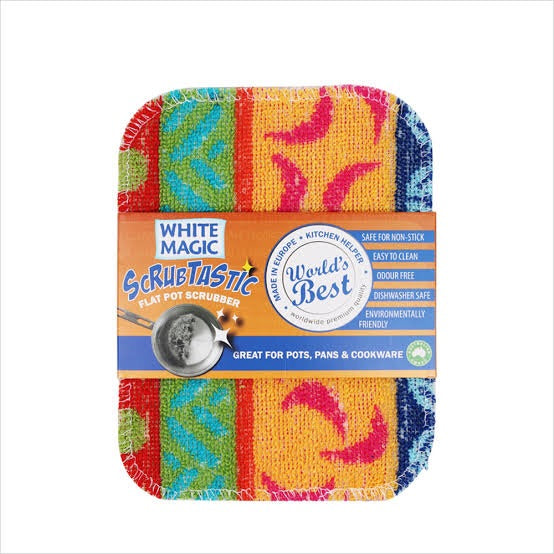 White Magic Scrubtastic Flat Scrubber