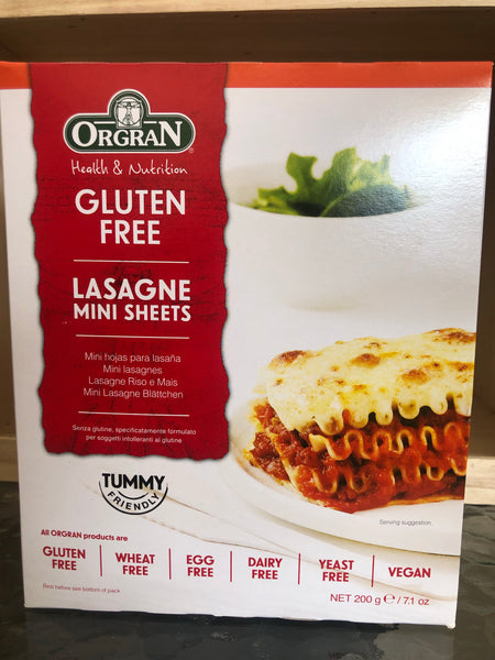 Orgran Mini Lasagne Sheets (rice and corn) 200g