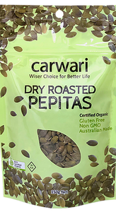 Carwari Organic Pepitas Dry Roasted 150g