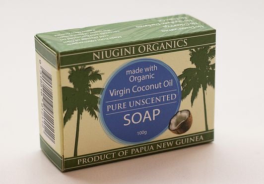 Pure Unscented Coconut Oil Soap by Niugini Organics