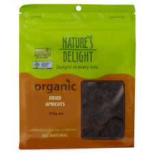 Natures Delight Organic Dried Apricots 250g