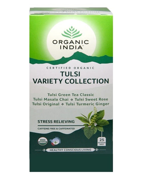 Organic India  - Tea Bags 25 - True Variety Tulsi Tea Collection
