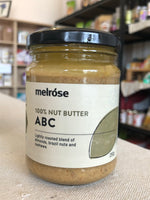 Melrose 100% Nut Butter 250g - ABC Almond, Brazil, Cashew