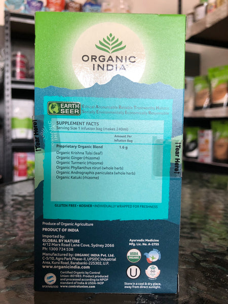 Organic India - Tea Bags 25 - Cleanse Tulsi Tea