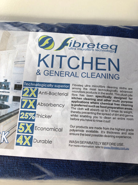 Fibreteq Microfibre Cloth - Kitchen/General Cleaning