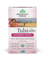 Organic India - Tea Bags 18 - Raspberry Peach Tulsi Tea