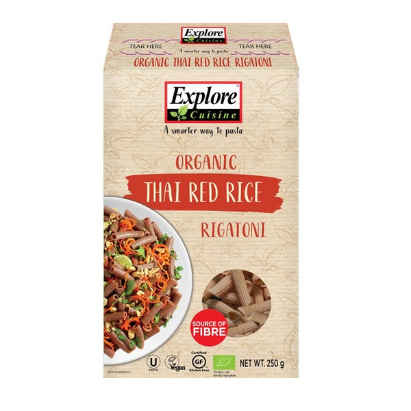 Explore Cuisine Red Rice Rigatoni 250g