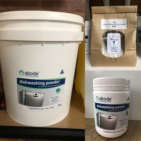 Abode Refill - Auto Dishwasher Powder 1kg - byo own container