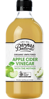 Barnes Naturals Apple Cider Unfiltered and contains the mother 500ml