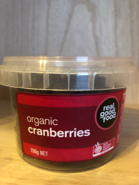 Real Good Food Dried Cranberries (organic) 150g