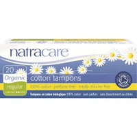Natracare Organic Cotton Tampons Regular 20 pack