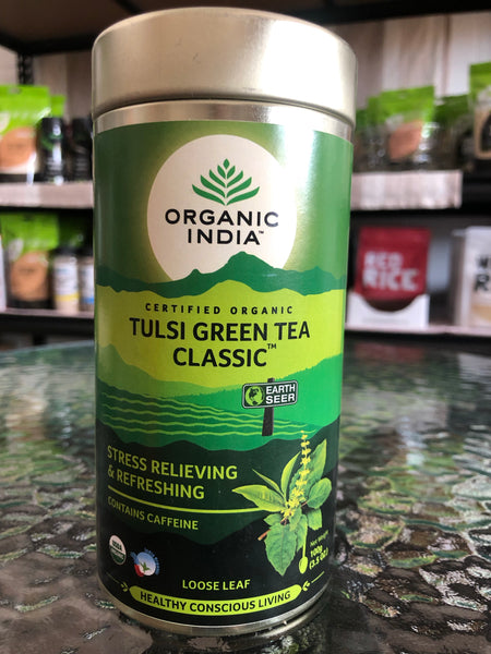 Organic India - Loose Leaf Tea 100g - Green Tea Tulsi