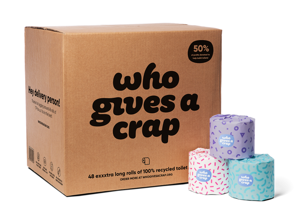 Toilet Paper - Who Gives a Crap - Classic 48 roll box  *(Bulky)
