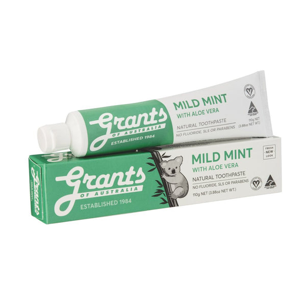 Grants Natural Toothpaste Mild Mint with Aloe Vera