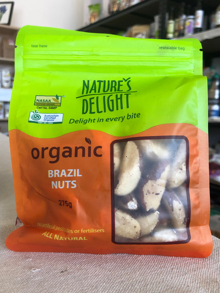 Natures Delights Organic Brazil Nuts 275g