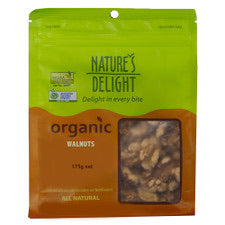 Natures Delight Organic Walnuts 175g