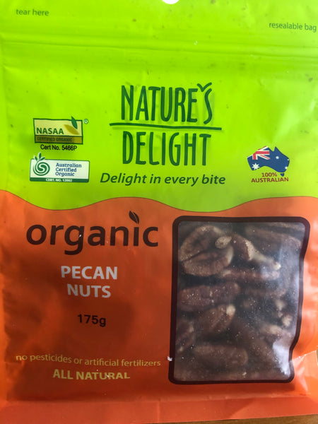 Natures Delight Organic Pecan Nuts 175g
