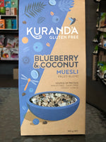 Kuranda GF Natural Muesli 350g - Paleo Blueberry