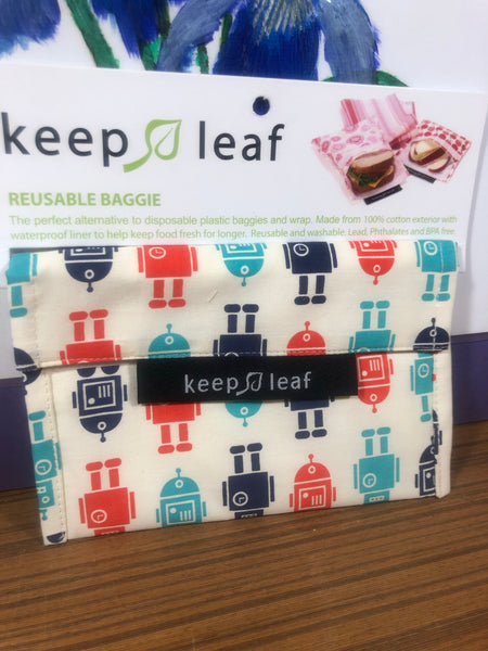 Keep Leaf Reusable Baggie -Small  (Click to view different styles)